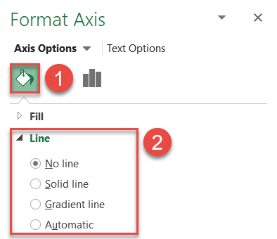 the Format Axis task pane