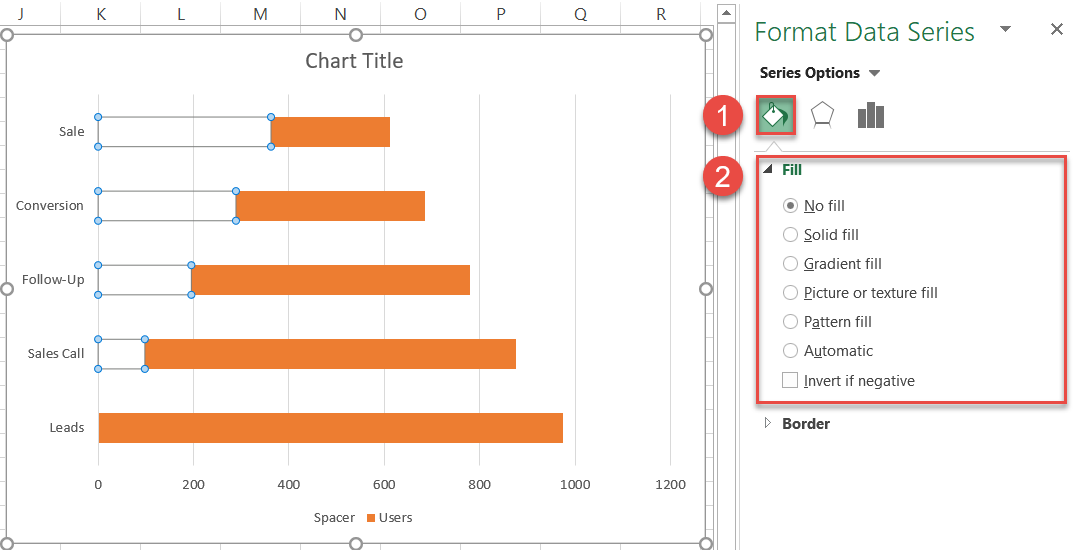 The Format Data Series task pane