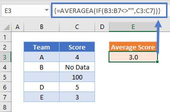 AVERAGEA-IF-Category-Not-Blank