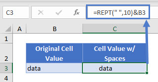 add spaces to cell 01