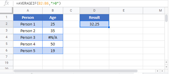 average ignore errors Google Function