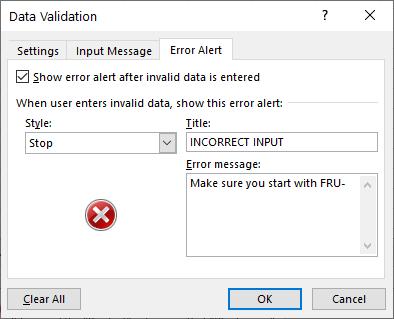 data validation dialog box - error alert