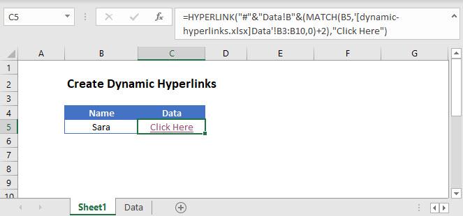 dynamic hyperlinks Main Function