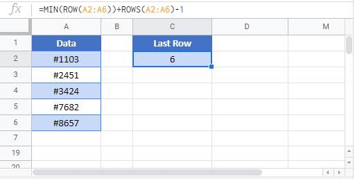 find last row Google Function