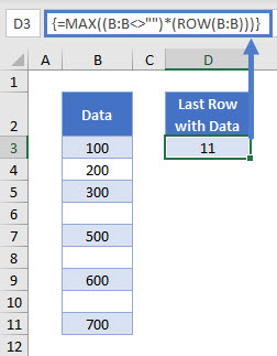 find last row with data 03