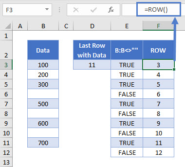 find last row with data 05