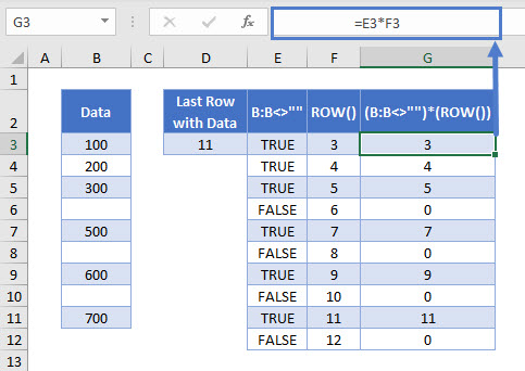 find last row with data 06