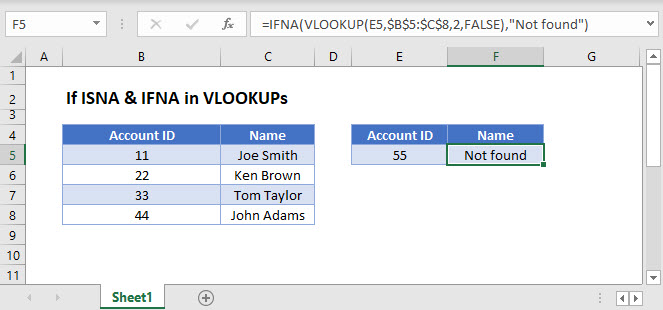 if isna vlookup Main Function