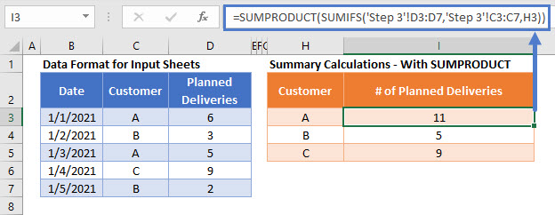 sum if multiple sheets Step03