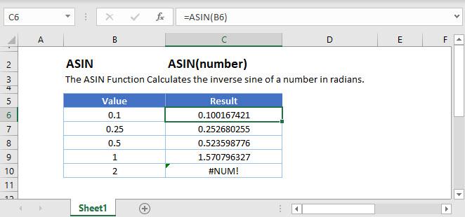 ASIN Main Function