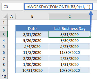Last Business Day of Month