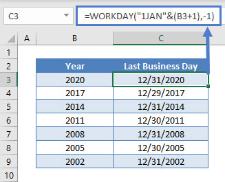 Last Business Day of Year