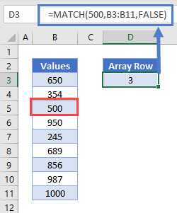 Match Position in Array