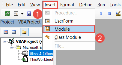 Add a new module to the workbook