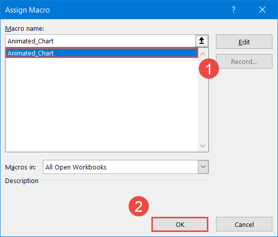 Assign the macro to the button