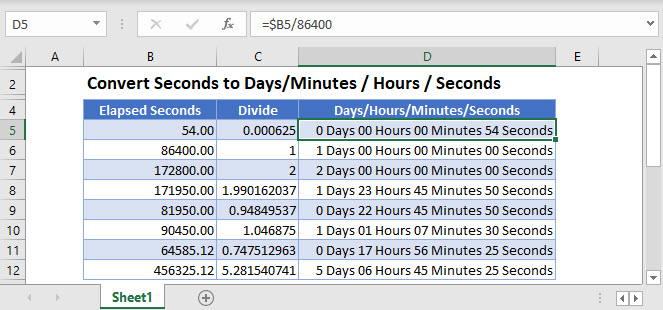 convert seconds to minutes hours Main Function