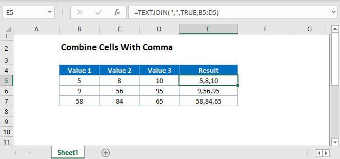 combine-cells comma Main Function