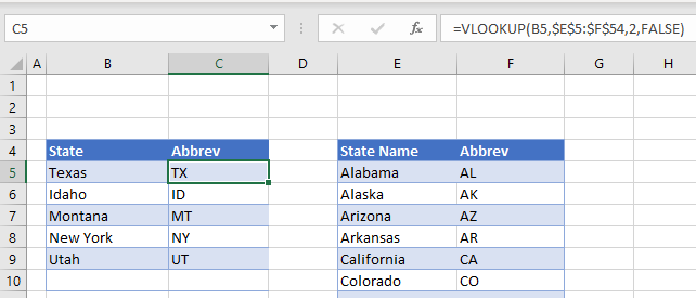 convert state name abbreviation 01