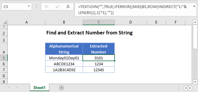 find extract number from string Main Function