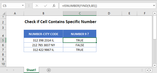 if cell contains number Main Function