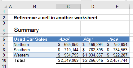 reference cell in another sheet workbook 01