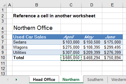 reference cell in another sheet workbook 03