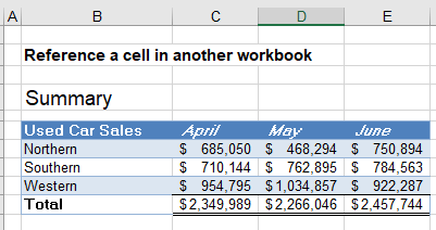 reference cell in another sheet workbook 15