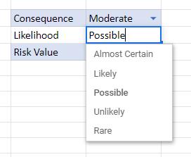 risk score bucket vlookup 17