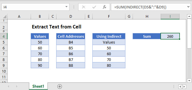 use cell value in formula Main Function