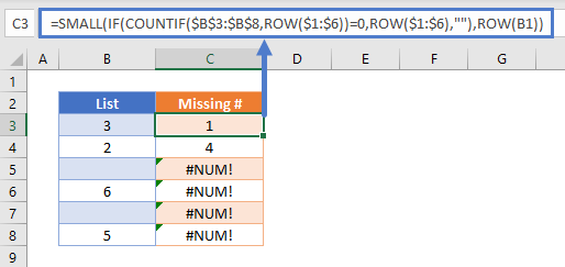 list skipped numbers in sequence 01