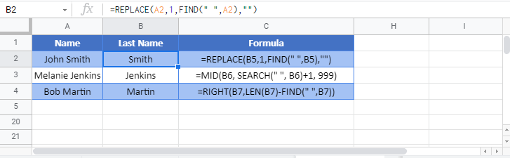 remove first chars from left Google Function