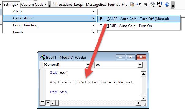 vba code module