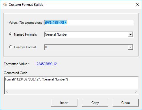 vba format builder