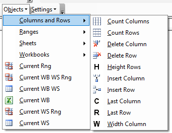 vba code library columns rows