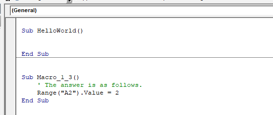 interactive VBA Tutorial help correct answer