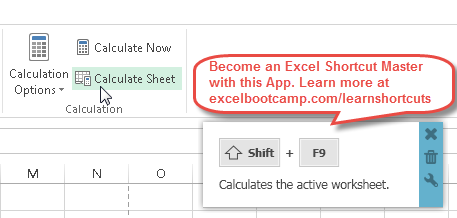 Calculate Active Sheet