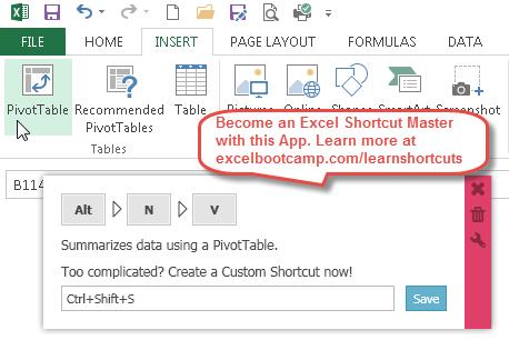excel pivot table shortcuts become a shortcut expert