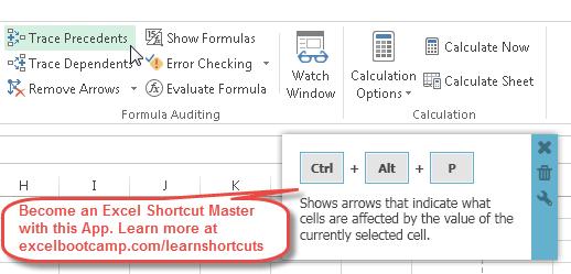 Excel Trace Precedents Or Dependents Shortcuts Bee A Shortcut. Trace Precedents. Worksheet. Calculate Worksheet Excel Shortcut At Clickcart.co